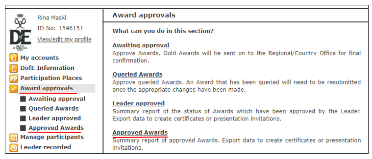 certificate printing user guide dofe