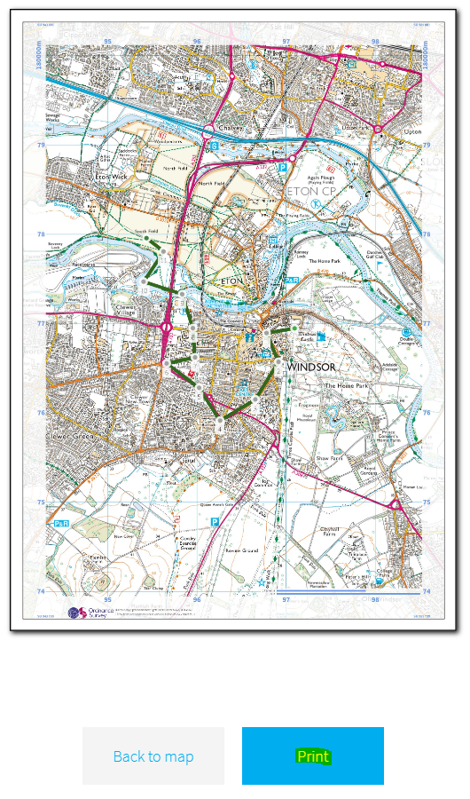 How do I print my eDofE map and route card in PDF format? – DofE